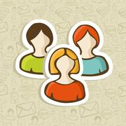 Stock Illustration of social user group profile icons