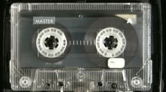 Audio cassette playing - stock footage