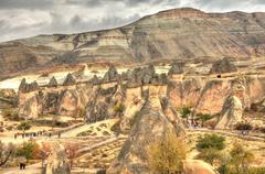 Famous cave city  Cappadocia at Turkey, HDR photography - stock photo