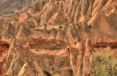 Famous cave city  Cappadocia at Turkey, HDR photography Stock Photos