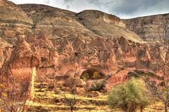 Famous cave city  Cappadocia at Turkey, HDR photography - stock photo