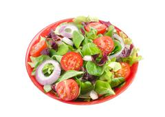 mixed salad in a bowl - stock photo