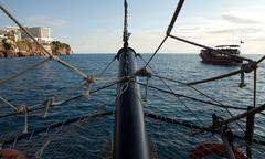 Sea trip Stock Photos