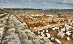 Ancient  Perge, HDR photography Stock Photos