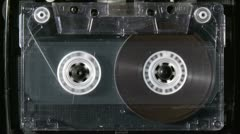 Audio cassette starts playing - stock footage
