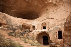 Famous city  Cappadocia in Turkey - stock photo