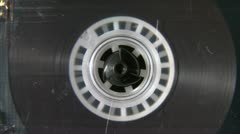 Audio cassette reel playing Stock Footage