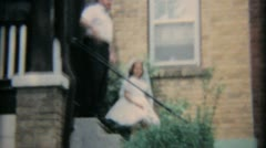 Girl In Graduation Dress With Family-1964 Vintage 8mm film Stock Footage