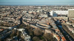 Hague from above - timelapse - stock footage
