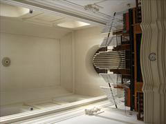 organ in catholic church - stock photo