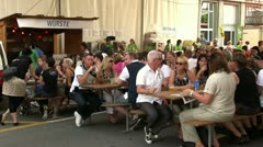 Beer Tent at Lucerne Fest 2012 Stock Footage