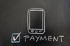 Stock Photo of payment by mobile