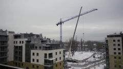 Tower crane disassemble Stock Footage