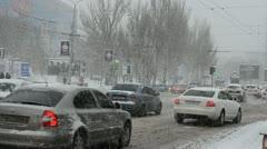 Blizzard. Donetsk, Ukraine. Stock Footage
