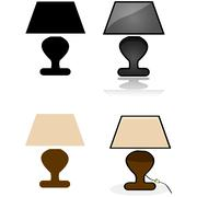 Table lamp Stock Illustration