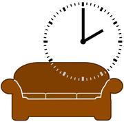 Nap time Stock Illustration