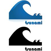 Tsunami alert Stock Illustration