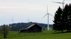 Windmill : green energy Stock Footage