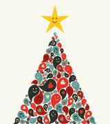 Joulu multimedia musiikki puu onnittelukortti Piirros
