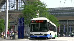 Bus at Lucerne station Stock Footage