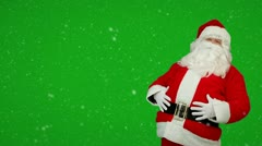 Stock Video Footage of Happy Santa Claus laughing