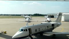 Gulfstream II On Ramp Stock Footage