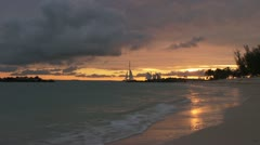 stock footage-Keywest-Beach-Time Lapse-Pro Res (HQ) - stock footage