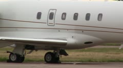 Yksityinen Jets On Ramp Challanger Beechjet300 Arkistovideo
