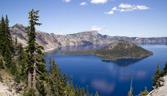 crater lake - stock photo
