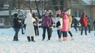 Children on the snow 3 Stock Footage