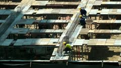 Construction Workers, People, Jobs, Industrial Engineers - stock footage