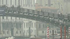 Zoom out of Ponte De l'Accademia Bridge Venice Italy Stock Footage