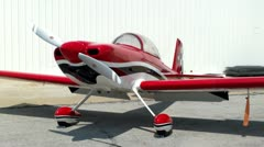 Rans RV-8 On The Ramp 1 Stock Footage
