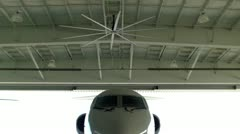 Gulfstream In Hangar 2 Stock Footage