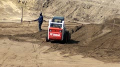 Front Loader Truck, Construction Vehicle Stock Footage