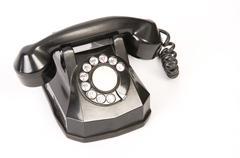 rotary dial telephone - stock photo
