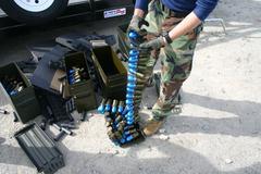 Mk19 Ammo.jpg Stock Photos