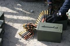 M240B ammo.jpg - stock photo