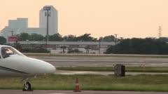 Cessna Citation On The Ramp - stock footage