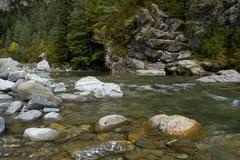 Mountain river, ordesa Stock Photos