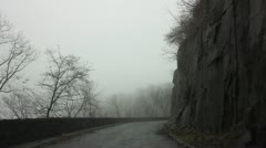 Driving Up Mountain Road Next to Cliffs Stock Video Stock Footage