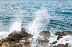 Sea surf wave Stock Photos