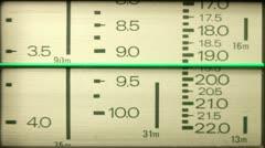 Vintage radio dial Stock Footage