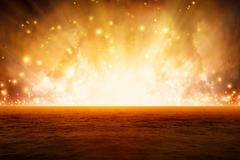 burning sea - stock illustration