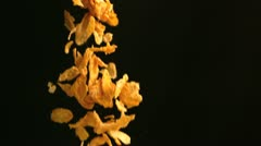 Cereals falling - stock footage