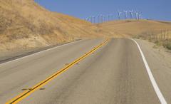Wind power hill Stock Photos