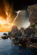 dramatic nature background - stock illustration
