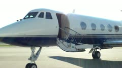 Gulfstream II Closing Door Stock Footage