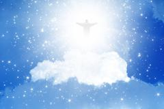 christ in sky - stock illustration
