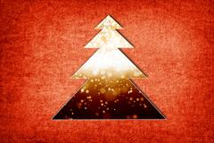 abstract christmas tree - stock illustration